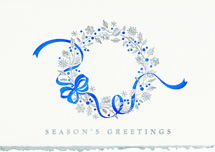 Dancing Ribbon Holiday Cards
