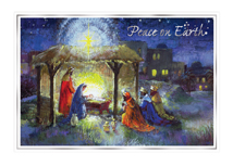 Away In A Manger Christmas Cards
